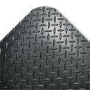 CROWN MATS & MATTING CWNCD0023DB Industrial Deck Plate Anti-Fatigue Mat, Vinyl, 24 X 36, Black