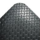 CROWN MATS & MATTING CWNCD0035DB Industrial Deck Plate Anti-Fatigue Mat, Vinyl, 36 X 60, Black