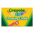Crayola CYO510403 Colored Drawing Chalk, 12 Assorted Colors 12 Sticks/set