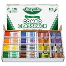Crayola 523349 Crayons and Markers Combo Classpack, Eight Colors, 256/Set
