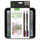 Crayola 586503 Detailing Stick Gel Pen, Medium 1mm, Assorted Ink, Black Barrel, 20/Set