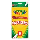 Crayola CYO587709 Non-Washable Markers, Fine Point, Classic Colors, 8/set