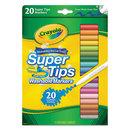 Crayola CYO588106 Washable Super Tips Markers, Assorted, 20/set