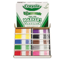 Crayola CYO588210 Non-Washable Classpack Markers, Fine Point, Ten Assorted Colors, 200/box