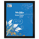 DAX MANUFACTURING INC. DAX2863V2X Black Solid Wood Poster Frames W/plastic Window, Wide Profile, 16 X 20