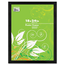 DAX MANUFACTURING INC. DAX2863W2X Black Solid Wood Poster Frames W/plastic Window, Wide Profile, 18 X 24