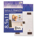 DAX MANUFACTURING INC. DAXN140285M Velcro Magnetic Cubicle Photo Document Frame, Acrylic, 8 1/2 X 11, Clear