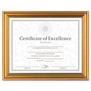 DAX MANUFACTURING INC. DAXN1818N1T Antique Colored Document Frame W/certificate, Plastic, 8 1/2 X 11, Gold