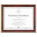 DAX MANUFACTURING INC. DAXN2709N7T Gold-Trimmed Document Frame W/certificate, Wood, 8 1/2 X 11, Mahogany