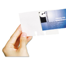 DURABLE OFFICE PRODUCTS CORP. DBL241819 Visifix Double-Sided Business Card Refill Sleeves, 40/pack