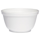 Dart DCC10B20 Foam Bowls, 10 Ounces, White, Round