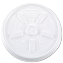 Dart DCC10JL Vented Plastic Hot Cup Lids, 10jl, 10 Oz., White, 1000/carton