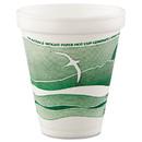 Dart DCC12J16H Horizon Hot/Cold Foam Drinking Cups, 12 oz, Green/White, 25/Bag, 40 Bags/Carton