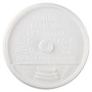Dart DCC12UL Sip-Through Lids For 10, 12, 14 Oz Foam Cups, Plastic, White, 1000/carton