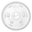 Dart DCC16UL Plastic Lids, For 16oz Hot/cold Foam Cups, Sip-Thru Lid, White, 1000/carton