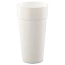 Dart DCC24J16 Drink Foam Cups, Hot/cold, 24oz, White, 25/bag, 20 Bags/carton