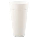Dart DCC24J24 Drink Foam Cups, Hot/cold, 24oz, White, 500/carton