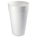 Dart DCC44TJ32 Conex Foam Cup, 44 Oz., Hot/cold, White, 20/bag