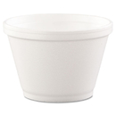 Dart DCC6SJ12 Foam Containers, 6oz, White, 50/bag, 20 Bags/carton
