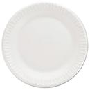 Dart DCC7PWCR Non-Laminated Foam Dinnerware, Plates, 7