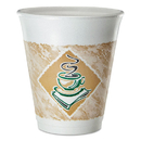 Dart DCC8X8GPK Cafe G Foam Hot/cold Cups, 8 Oz, Brown/green/white, 25/pack