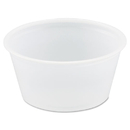 SOLO Cup DCCP200N Polystyrene Portion Cups, 2oz, Translucent, 250/bag, 10 Bags/carton