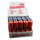 Dorcy 416487 LED Utility Flashlight, 1 D Battery (Sold Separately), Assorted