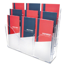 DEFLECTO CORPORATION DEF47631 Three-Tier Document Organizer With Dividers, 14w X 3 1/2d X 11 1/2h, Clear