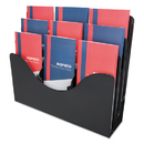 DEFLECTO CORPORATION DEF47634 Three-Tier Document Organizer With Dividers, 14w X 3 1/2d X 11 1/2h, Black