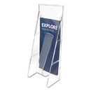DEFLECTO CORPORATION DEF55601 Stand Tall Literature Holder, 4 9/16w X 3 1/4d X 11 7/8h, Clear