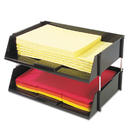 DEFLECTO CORPORATION DEF582704 Industrial Stacking Tray Set, Two Tier, Plastic, Black