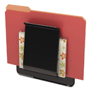 Deflect-O DEF65504H Stand Tall Wall File, Legal/letter/oversized, One Pocket, Black