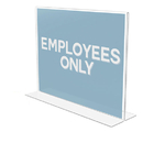 Deflect-O DEF69301 Classic Image Stand-Up Double-Sided Sign Holder, Plastic, 11 X 8 1/2 Insert
