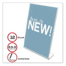 Deflecto 69701-VP Classic Image Slanted Sign Holder, 8 1/2