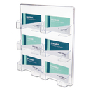 DEFLECTO CORPORATION DEF70601 Six-Pocket Wall Mount Business Card Holder, Holds 480 2 X 3 1/2 Cards, Clear