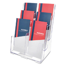 DEFLECTO CORPORATION DEF77401 Multi Compartment Docuholder, Six Compartments, 9 5/8w X 6 1/4d X 12 5/8h, Clear