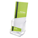 DEFLECTO CORPORATION DEF78601 Docuholder For Countertop Or Wall Mount Use, 4 3/8w X 4 1/4d X 7 3/4h, Clear