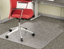 DEFLECTO CORPORATION DEFCM11112 Economat Occasional Use Chair Mat For Low Pile, 36 X 48 W/lip, Clear