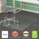 Deflecto CM14242COM SuperMat Frequent Use Chair Mat, Med Pile Carpet, Roll, 45 x 53, Rectangular, Clear