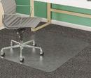 Deflect-O DEFCM14243 Supermat Frequent Use Chair Mat, Medium Pile Carpet, Beveled, 45 X 53, Clear