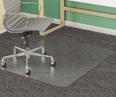 Deflect-O DEFCM14443F Supermat Frequent Use Chair Mat, Medium Pile Carpet, Beveled, 46 X 60, Clear