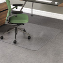 DEFLECTO CORPORATION DEFCM15443F Rollamat Frequent Use Chair Mat For Medium Pile Carpet, 46 X 60, Clear