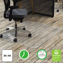 Deflect-O DEFCM21142PC Clear Polycarbonate All Day Use Chair Mat For Hard Floor, 36 X 48