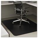 Deflect-O DEFCM21242BLK Economat Anytime Use Chair Mat For Hard Floor, 45 X 53, Black