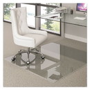 Deflecto CMG70434450 Premium Glass All Day Use Chair Mat - All Floor Types, 44 x 50, Rectangular, Clear