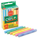 Prang DIX61400 Hygieia Dustless Board Chalk, 3 1/4 X 3/8. Assorted, 12/box