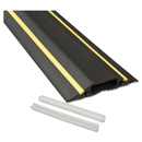 D-Line DLNFC83H Medium-Duty Floor Cable Cover, 3 1/4 X 1/2 X 6 Ft, Black With Yellow Stripe
