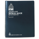 DOME PUBLISHING COMPANY DOM650 Payroll Record, Single Entry System, Blue Vinyl Cover, 8 3/4 X11 1/4 Pages