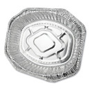 Durable Packaging DPK40010 Aluminum Roaster Pans, Extra-Large Oval, 230 oz, 18.5 x 14 x 3.38, Silver, 50/Carton