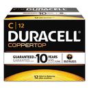Duracell DURMN140012 Coppertop Alkaline Batteries With Duralock Power Preserve Technology, C, 12/box